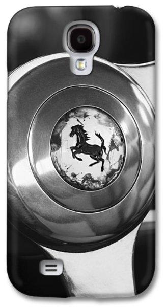 Europa Galaxy S4 Cases - 1955 Ferrari 250 Europa GT Pinin Farina Berlinetta Steering Wheel Emblem Galaxy S4 Case by Jill Reger