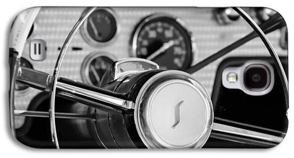 Transportation Photographs Galaxy S4 Cases - 1955 Studebaker President Steering Wheel Emblem Galaxy S4 Case by Jill Reger