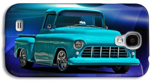 Slam Galaxy S4 Cases - 1956 Chevrolet Custom Pick Up Galaxy S4 Case by Dave Koontz