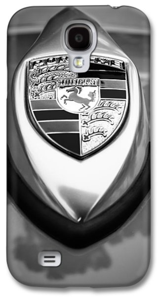 Transportation Photographs Galaxy S4 Cases - 1957 Porsche 356 A Speedster Hood Emblem Galaxy S4 Case by Jill Reger