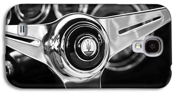 Transportation Photographs Galaxy S4 Cases - 1958 Maserati Steering Wheel Emblem Galaxy S4 Case by Jill Reger