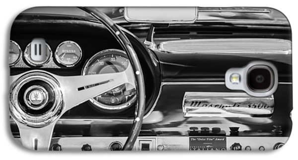 1960 Photographs Galaxy S4 Cases - 1960 Maserati 3500 GT Spyder Steering Wheel Emblem Galaxy S4 Case by Jill Reger