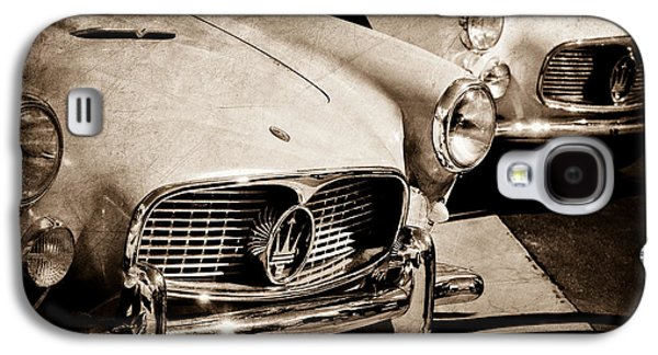 1960 Photographs Galaxy S4 Cases - 1960 Maserati Grille Emblem Galaxy S4 Case by Jill Reger