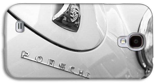 1960 Photographs Galaxy S4 Cases - 1960 Porsche 356 B 1600 Super Roadster Hood Emblem Galaxy S4 Case by Jill Reger
