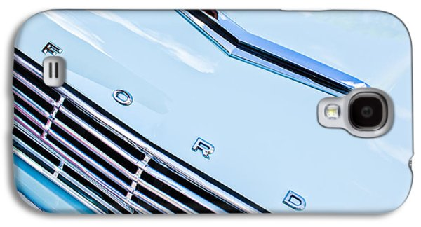1963 Ford Galaxy S4 Cases - 1963 Ford Falcon Futura Convertible Hood Emblem Galaxy S4 Case by Jill Reger