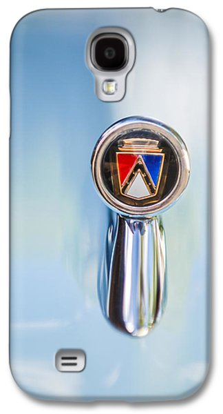1963 Ford Galaxy S4 Cases - 1963 Ford Falcon Futura Convertible  Hood Ornament Galaxy S4 Case by Jill Reger