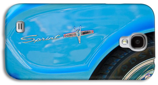 1963 Ford Galaxy S4 Cases - 1963 Ford Falcon Sprint Side Emblem Galaxy S4 Case by Jill Reger