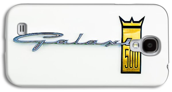 1963 Ford Galaxy S4 Cases - 1963 Ford Galaxie 500 R-Code Factory Lightweight Emblem Galaxy S4 Case by Jill Reger