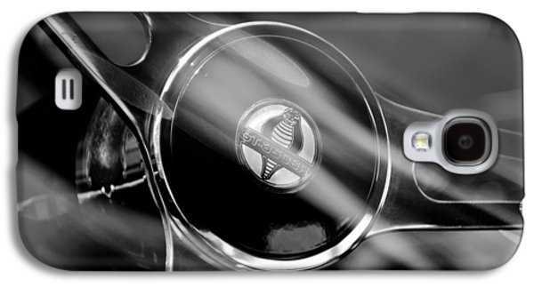 1965 Ford Mustang Cobra Emblem Steering Wheel Galaxy S4 Case by Jill Reger
