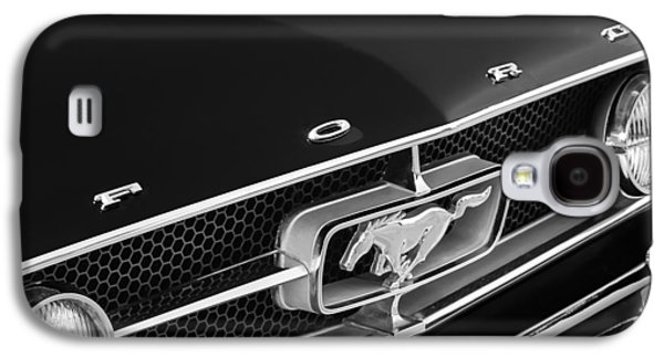 1965 Ford Mustang Grille Emblem Galaxy S4 Case by Jill Reger