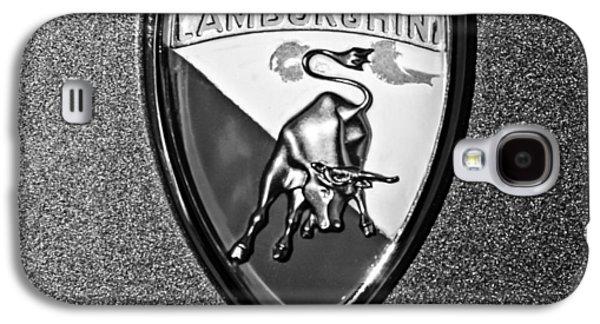 Transportation Photographs Galaxy S4 Cases - 1965 Lamborghini 350 GT Emblem Galaxy S4 Case by Jill Reger