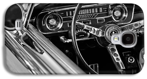 Classic Cars Photographs Galaxy S4 Cases - 1965 Shelby prototype Ford Mustang Steering Wheel Galaxy S4 Case by Jill Reger