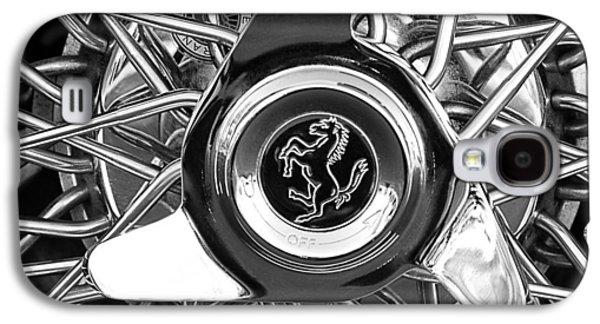 Transportation Photographs Galaxy S4 Cases - 1966 Ferrari 330 GTC Coupe Wheel Rim Emblem Galaxy S4 Case by Jill Reger