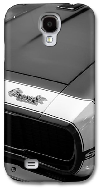 Transportation Photographs Galaxy S4 Cases - 1967 Chevrolet Camaro SS 350 Convertible Hood Emblem Galaxy S4 Case by Jill Reger