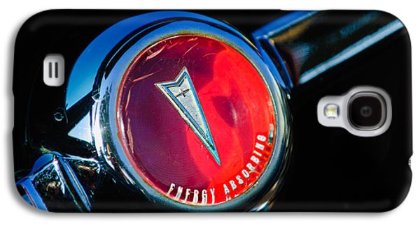 Transportation Photographs Galaxy S4 Cases - 1967 Pontiac Firebird Steering Wheel Emblem Galaxy S4 Case by Jill Reger