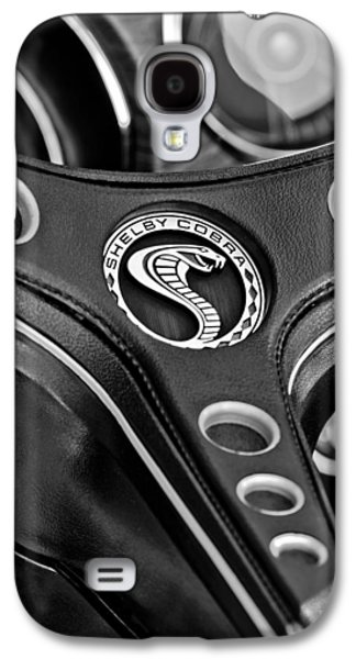 Transportation Photographs Galaxy S4 Cases - 1969 Shelby Gt500 Convertible 428 Cobra Jet Steering Wheel Emblem Galaxy S4 Case by Jill Reger