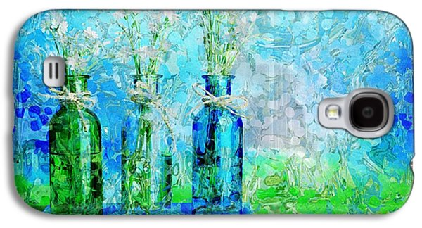 Dots Digital Art Galaxy S4 Cases - 1-2-3 Bottles - s13ast Galaxy S4 Case by Variance Collections