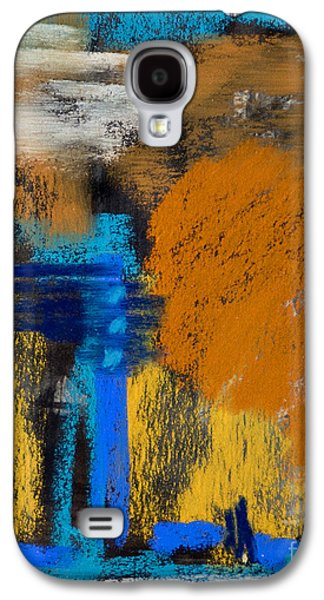 Contemporary Abstract Pastels Galaxy S4 Cases - Peaches and Cream Galaxy S4 Case by Tracy L Teeter