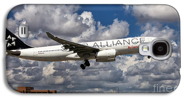 Star Alliance Airline Galaxy S4 Cases - Airbus A-330 Avianca Airlines Galaxy S4 Case by Rene Triay Photography