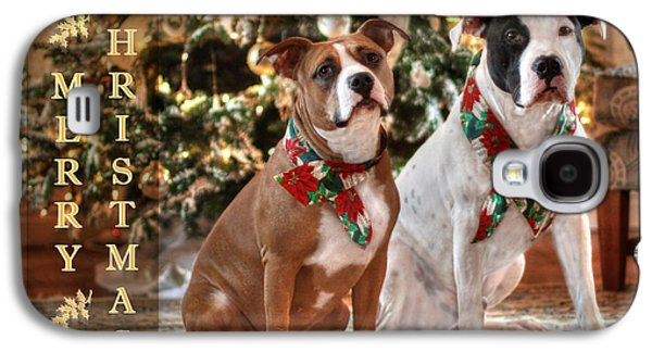 A Bubba And Kensie Christmas Galaxy S4 Case by Shelley Neff