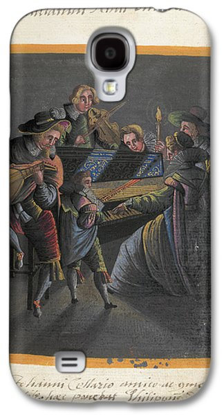 A Group Of Musicians Galaxy S4 Case by British Library
