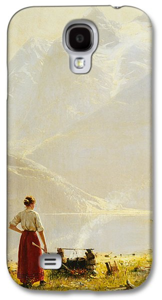 Reservoir Galaxy S4 Cases - A Summer Day on a Norwegian Fjord Galaxy S4 Case by Hans Dahl