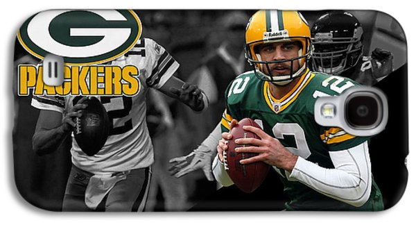 Uniform Galaxy S4 Cases - Aaron Rodgers Packers Galaxy S4 Case by Joe Hamilton