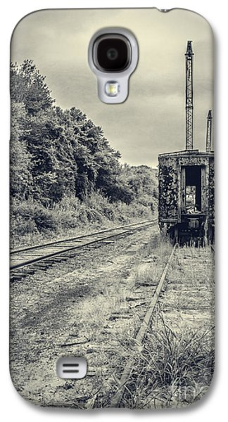Future Photographs Galaxy S4 Cases - Abandoned burnt out train cars Galaxy S4 Case by Edward Fielding