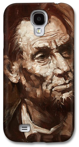 Abraham Lincoln Galaxy S4 Cases - Abraham Lincoln Galaxy S4 Case by Ylli Haruni