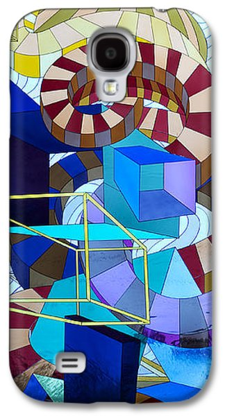 Modern Abstract Glass Art Galaxy S4 Cases - Abstract Art Stained Glass Galaxy S4 Case by Mountain Dreams
