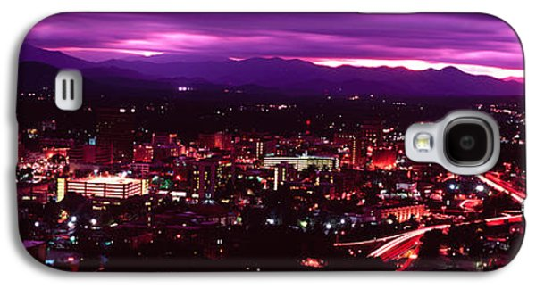 Asheville Galaxy S4 Cases - Aerial View Of A City Lit Up At Night Galaxy S4 Case by Panoramic Images