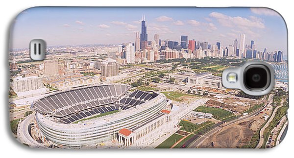 Soldier Field Galaxy S4 Cases - Aerial View Of A Stadium, Soldier Galaxy S4 Case by Panoramic Images