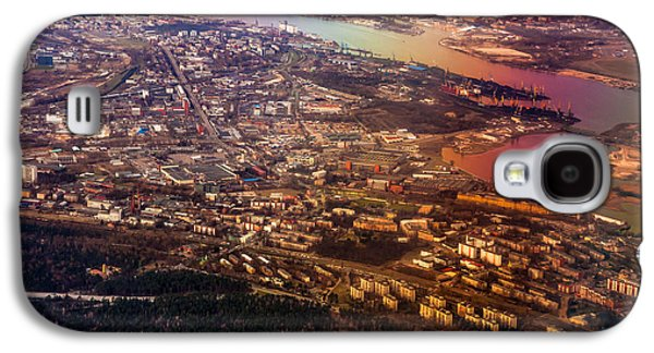 Unique View Galaxy S4 Cases - Aerial View of Riga. Latvia. Rainbow Earth Galaxy S4 Case by Jenny Rainbow