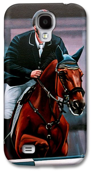 Horse Racing Galaxy S4 Cases - Albert Zoer and Sam Galaxy S4 Case by Paul  Meijering