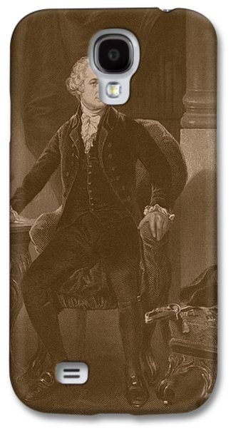 Politician Paintings Galaxy S4 Cases - Alexander Hamilton Galaxy S4 Case by War Is Hell Store