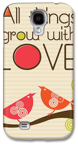 Animals Love Galaxy S4 Cases - All things grow with love Galaxy S4 Case by Valentina Ramos