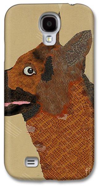 Dogs Digital Art Galaxy S4 Cases - Alsatian  Galaxy S4 Case by Bri Buckley