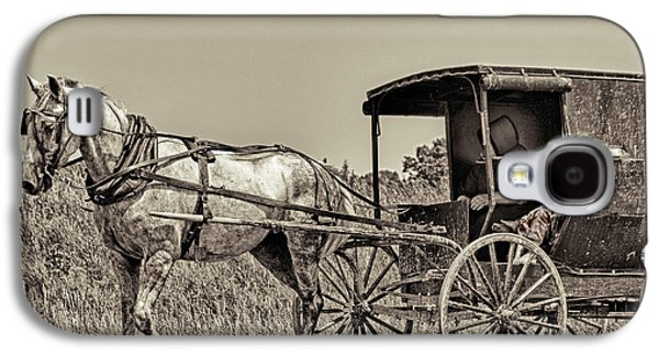 Amish Community Photographs Galaxy S4 Cases - Amish Boy Tips Hat Galaxy S4 Case by Robert Frederick