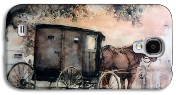 Horse And Buggy Paintings Galaxy S4 Cases - Amish Sunday Galaxy S4 Case by Rose Sinatra