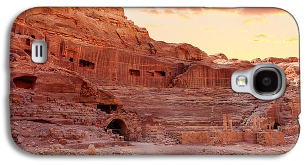 Nabatean Galaxy S4 Cases - Amphitheater in Petra Galaxy S4 Case by Alexey Stiop