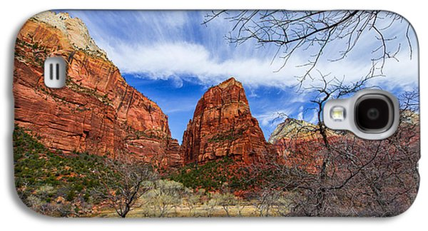 Geology Photographs Galaxy S4 Cases - Angels Landing Galaxy S4 Case by Chad Dutson