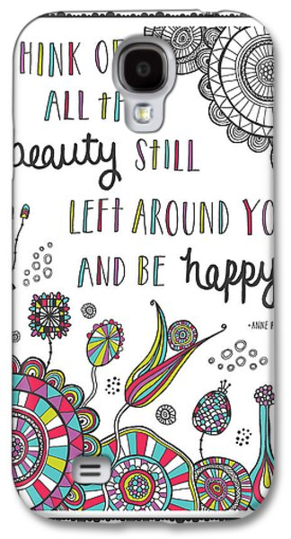 Sun Galaxy S4 Cases - Anne Frank Quote Galaxy S4 Case by Susan Claire