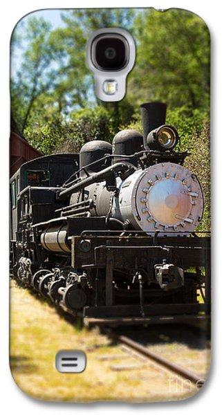 Miniature Photographs Galaxy S4 Cases - Antique Locomotive Galaxy S4 Case by Jane Rix