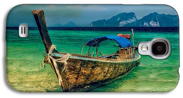 Coastline Digital Art Galaxy S4 Cases - Asian Longboat Galaxy S4 Case by Adrian Evans