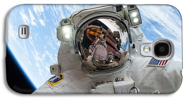 Astral Galaxy S4 Cases - Astronaut Selfie During Spacewalk by NASA Galaxy S4 Case by Celestial Images