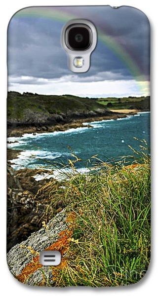Summer Storm Galaxy S4 Cases - Atlantic coast in Brittany Galaxy S4 Case by Elena Elisseeva