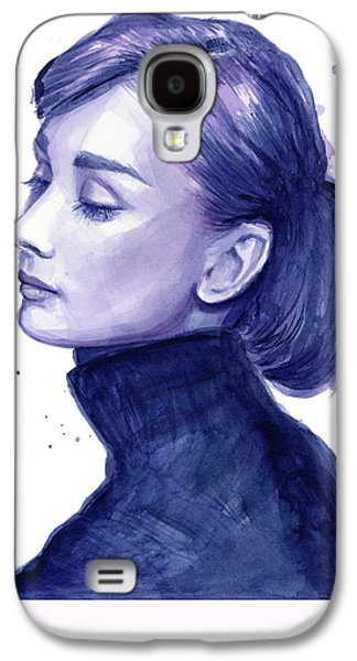 Illustration Paintings Galaxy S4 Cases - Audrey Hepburn Portrait Galaxy S4 Case by Olga Shvartsur