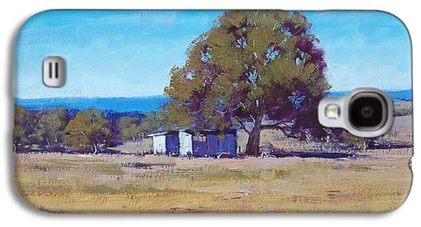 Shed Paintings Galaxy S4 Cases - Australian Summer Landscape Galaxy S4 Case by Graham Gercken