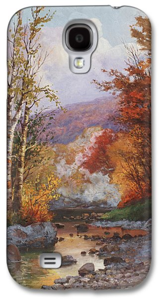 Autumn In The Country Galaxy S4 Cases - Autumn in the Berkshires Galaxy S4 Case by Christian Jorgensen