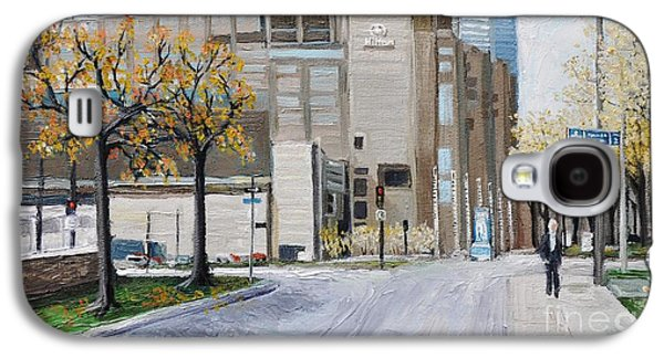 Montreal Paintings Galaxy S4 Cases - Autumn in the City Galaxy S4 Case by Reb Frost